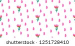 seamless flowers pattern with... | Shutterstock .eps vector #1251728410