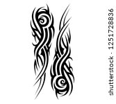 tattoo tribal  art deco... | Shutterstock .eps vector #1251728836