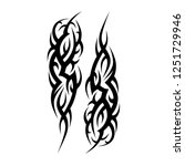 tattoo tribal  art deco... | Shutterstock .eps vector #1251729946
