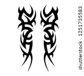 tribal symmetric pattern...   Shutterstock .eps vector #1251735583