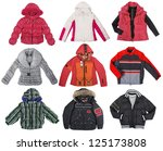 collection of color jacket | Shutterstock . vector #125173808