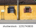front view of old house with... | Shutterstock . vector #1251743833