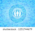 dead man in his coffin icon... | Shutterstock .eps vector #1251744679