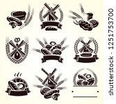 bread labels set. vector | Shutterstock .eps vector #1251753700