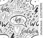 calligraphy hand lettering... | Shutterstock . vector #1251758590