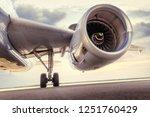 turbine of an modern airliner   Shutterstock . vector #1251760429