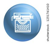 typewriter classic icon. simple ... | Shutterstock .eps vector #1251761410