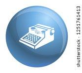 newspaper typewriter icon.... | Shutterstock .eps vector #1251761413