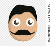 mustache man face icon. cartoon ... | Shutterstock .eps vector #1251761560