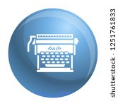 office typewriter icon. simple... | Shutterstock .eps vector #1251761833