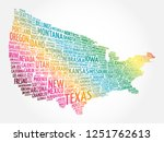 usa map word cloud collage with ... | Shutterstock . vector #1251762613