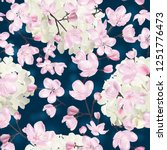 vector botanical seamless... | Shutterstock .eps vector #1251776473