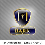 golden badge with pull up icon ... | Shutterstock .eps vector #1251777040