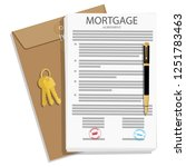 mortgage loan application... | Shutterstock .eps vector #1251783463