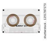 cassette tape with summer hits...   Shutterstock .eps vector #1251787273