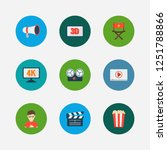 video icons set. play video and ...