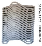 high stack of white plastic...   Shutterstock . vector #1251793510