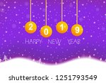 chritmas and happy new year... | Shutterstock .eps vector #1251793549