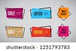 set of modern abstract vector... | Shutterstock .eps vector #1251793783