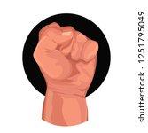 fist  threat  hit. vector...   Shutterstock .eps vector #1251795049