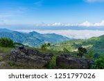 view point  mist on doi pha... | Shutterstock . vector #1251797026
