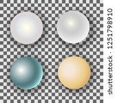 set of realistic pearls with...   Shutterstock .eps vector #1251798910