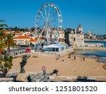 cascais beach  lisbon  portugal ... | Shutterstock . vector #1251801520