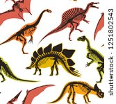dinosaurs and pterodactyl types ... | Shutterstock .eps vector #1251802543