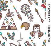 native american indians... | Shutterstock .eps vector #1251802606