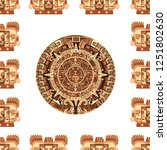 maya traditional attributes and ... | Shutterstock .eps vector #1251802630