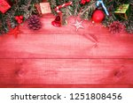 wooden background  christmas... | Shutterstock . vector #1251808456