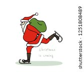 vector christmas card with hand ...   Shutterstock .eps vector #1251808489