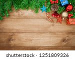 wooden background  christmas... | Shutterstock . vector #1251809326