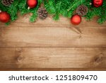 wooden background  christmas... | Shutterstock . vector #1251809470