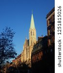 church spire in chelsea against ... | Shutterstock . vector #1251815026