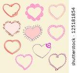heart designs for valentine's...   Shutterstock .eps vector #125181854