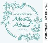 flower hand drawn frame template | Shutterstock .eps vector #1251819763