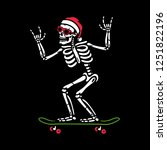 christmas skeleton on...   Shutterstock .eps vector #1251822196
