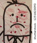 cartoon harassed man on a... | Shutterstock . vector #1251823093
