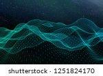 abstract landscape on a dark... | Shutterstock . vector #1251824170