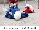 first aid after workplace...   Shutterstock . vector #1251827653