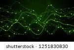 3d render abstract graph with...