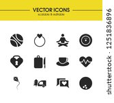 activity icons set with coffee  ...