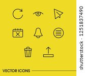 internet icons set with list ...