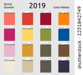 spring summer 2019 colors... | Shutterstock .eps vector #1251842749