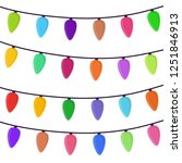 cartoon bright garland isolated ... | Shutterstock . vector #1251846913