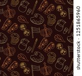 holland netherlands doodle line ... | Shutterstock .eps vector #1251865960