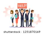 the unemployment rate of fresh... | Shutterstock .eps vector #1251870169