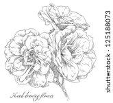 hand drawn rose flowers | Shutterstock .eps vector #125188073