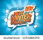 new winter collections now on ... | Shutterstock .eps vector #1251884293